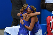 Petra Kvitova of the Czech Republic is through to the final after winning (6-1) (1-0) and Lucie Safarova of the Czech Republic retires during the Aegon Classic Birmingham at Edgbaston Priory Club, Edgbaston, United Kingdom on 24 June 2017. Photo by Martin Cole.