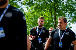 Alex Cuthbert of Exeter Chiefs arrives at Twickenham Stadium prior to kick off - Mandatory by-line: Ryan Hiscott/JMP - 01/06/2019 - RUGBY - Twickenham Stadium - London, England - Exeter Chiefs v Saracens - Gallagher Premiership Rugby Final