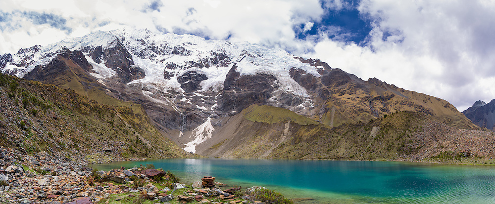Lago Humantay, the Humantay Glacier and Montaña Humantay, near Soraypampa, Peru