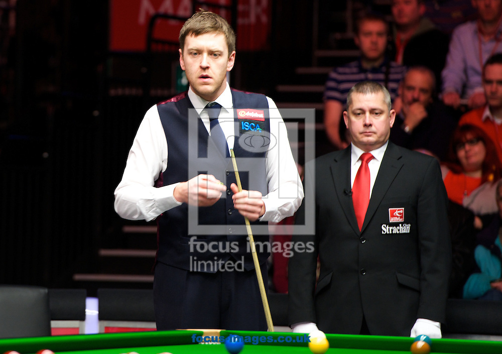 Picture by Alan Stanford/Focus Images Ltd +44 7915 056117<br /> 17/01/2014<br /> Ricky Walden during the The Masters quarter final at Alexandra Palace, London.