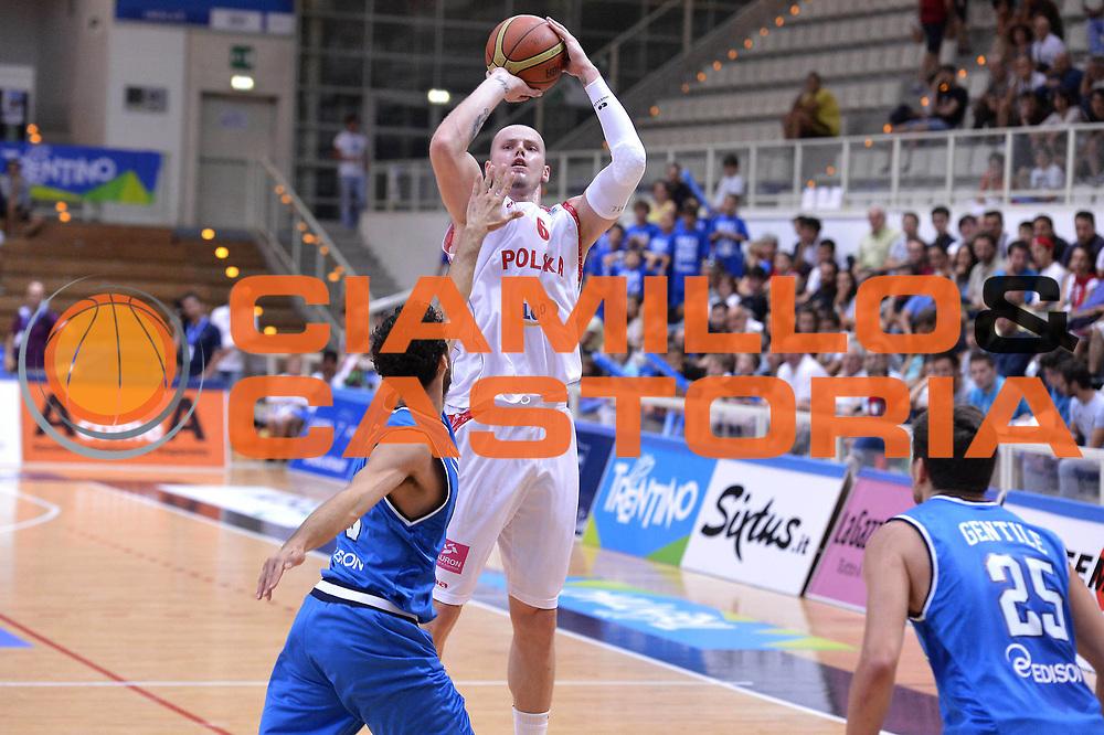 DESCRIZIONE : Trento Basket Cup 2013 Italia Polonia<br /> GIOCATORE : Maciej Lampe<br /> CATEGORIA : Tiro<br /> SQUADRA : Nazionale Italia Uomini Maschile<br /> EVENTO : Trento Basket Cup 2013 Italia Polonia<br /> GARA : Italia Polonia<br /> DATA : 09/08/2013<br /> SPORT : Pallacanestro<br /> AUTORE : Agenzia Ciamillo-Castoria/GiulioCiamillo<br /> Galleria : FIP Nazionali 2013<br /> Fotonotizia : Trento Basket Cup 2013 Italia Polonia<br /> Predefinita :