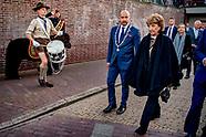 Prinses Margriet en Pieter van Vollenhoven bij herdenking Arnhem