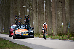 Amalie Dideriksen (DEN) at Healthy Ageing Tour 2018 - Stage 1, an 8km individual time trial in Heerenveen on April 4, 2018. Photo by Sean Robinson/Velofocus.com