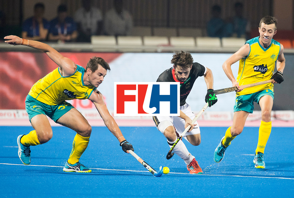 BHUBANESWAR - The Odisha Men's Hockey World League Final . Match ID 05 . Germany  v Australia . Benedikt Fuerk (Ger) with Jeremy Hayward (Aus) .  WORLDSPORTPICS COPYRIGHT  KOEN SUYK