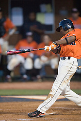 Oregon State Beavers SS Darwin Barney (10).  Oregon State Beavers OF Chris Hopkins (20) belts a home run against Virginia.  The Oregon State Beavers defeated the Virginia Cavaliers 5-3 in Game 6 of the NCAA World Series Charlottesville Regional held at Davenport Field in Charlottesville, VA on June 4, 2007.