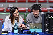 Giulia Cicchinè, Andrea Meneghin<br /> Banco di Sardegna Dinamo Sassari - Segafredo Virtus Bologna<br /> Legabasket LBA Serie A 2019-2020<br /> Sassari, 22/12/2019<br /> Foto L.Canu / Ciamillo-Castoria