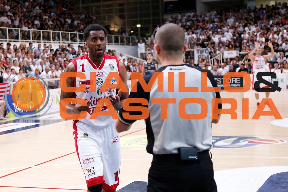 McLean Jamel<br /> Dolomiti Energia Aquila Basket Trento - EA7 Emporio Armani Olimpia Milano<br /> Semifinale Gara 4, Lega Basket Serie A 2016/2017<br /> PalaTrento 31/05/2017<br /> Foto Ciamillo-Castoria / M.Brondi