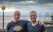 Photographer Michael Kleven and his brother Wayne from Wassila Alaska visit The Seattle Great Wheel in late Summer