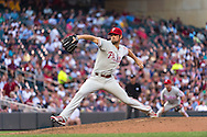 Cole Hamels #35 of the Philadelphia Phillies pitches against the Minnesota Twins on June 11, 2013 at Target Field in Minneapolis, Minnesota.  The Twins defeated the Phillies 3 to 2.  Photo: Ben Krause