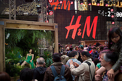 New York, NY: Fashion retailer H&amp;M hosts the &quot;Ultimate Summer Kick-off&quot; party featuring French house producer/DJ Bob Sinclar in Times Square on Friday, May 2, 2014. <br /> Sinclar teamed up with supermodel Gisele Bundchen (vocals), to produce a cover of Blondie&rsquo;s &ldquo;Heart of Glass&rdquo;, to be used to help promote the brand&rsquo;s summer campaign. Credit: Rob Bennett for H&amp;M / Handout