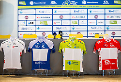Jerseys during press conference of 24th Tour of Slovenia 2017 / Tour de Slovenie cycling race on June 14, 2017 in City museum, Ljubljana, Slovenia. Photo by Vid Ponikvar / Sportida