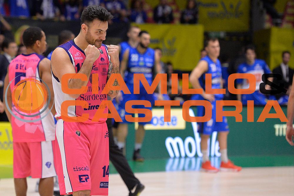 Brian Sacchetti<br /> Banco di Sardegna Sassari vs Basket Leonessa Brescia<br /> Poste Mobile Final Eight F8 2017 <br /> Lega Basket 2016/2017<br /> Rimini, 18/02/2017<br /> Foto Ciamillo-Castoria / I.Mancini