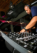 Derrick Carter DJing, Valentine´s Day Weekend at the Om Monthly at Mezzanine Night Club. San Francisco, California, USA. 2007
