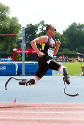 Samsung Diamond League adidas Grand Prix track & field; men's 400 meters, Oscar Pistorius, RSA, Olympic aspiring double amputee on Cheetahs,