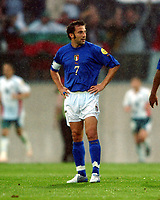 Alessandro Del Piero dejection after Bulgaria goal<br /> Italy EURO 2004<br /> Italy V Bulgaria 22/06/04 EURO 2004 PORTUGAL<br /> Photo Robin Parker Digitaslport