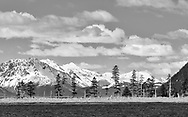 Sandspit Point and the Kenai Mountains  near Seward in Southcentral Alaska. Spring. Afternoon.