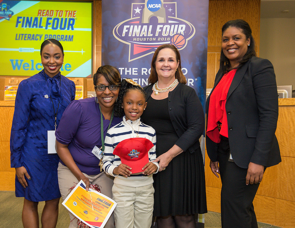 Montgomery Elementary School is recognized during the reveal of the 32 finalists in the Houston ISD NCAA Read to the Final Four, November 11, 2015.