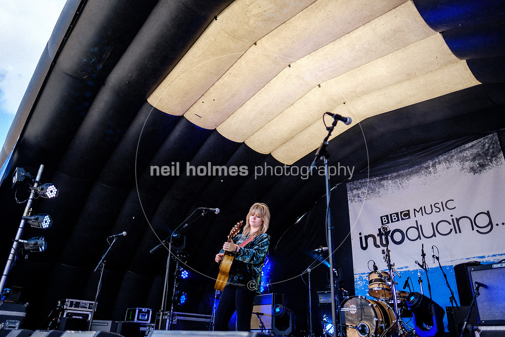 Humber Street, Kingston Upon Hull, East Yorkshire, United Kingdom, 05 August, 2017. Pictured: Katie Spencer, BBC Introducing Stage, Humber Street SESH