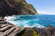 The big cliffs of Madeira coastline