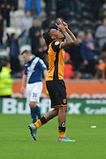 *** during the Sky Bet Championship match between Hull City and Birmingham City at the KC Stadium, Kingston upon Hull, England on 24 October 2015. Photo by Ian Lyall.
