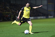 Ryan Edwards crosses the ball during the EFL Sky Bet League 1 match between Burton Albion and Southend United at the Pirelli Stadium, Burton upon Trent, England on 3 December 2019.