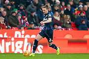 Leeds United defender Luke Ayling (2) in action  during the EFL Sky Bet Championship match between Stoke City and Leeds United at the Bet365 Stadium, Stoke-on-Trent, England on 19 January 2019.