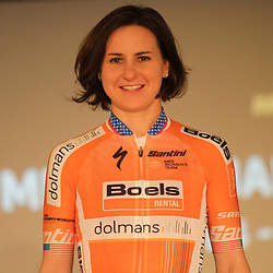 31-01-2018: HEERLEN: Boels-Dolmans: Heerlen: Nederland: Megan Guarnier