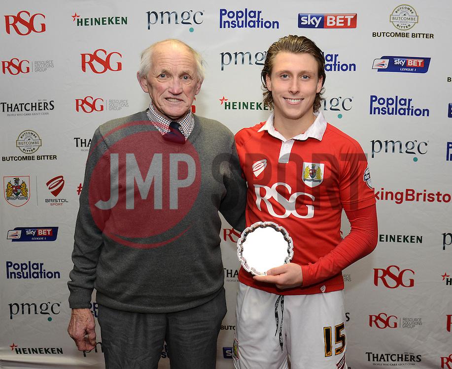 Man of the Match presentation - Photo mandatory by-line: Dougie Allward/JMP - Mobile: 07966 386802 - 10/02/2015 - SPORT - Football - Bristol - Ashton Gate - Bristol City v Port Vale - Sky Bet League One