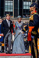 19-9-2017 THE HAGUE - THE HAGUE - prinses laurentien en prins contantijn Queen Maxima and Willem-Alexander King arrive with the Glazenkoets at the Knights on Budget Day prior to the throne speech. Every third Tuesday of September is Budget Day, the festive opening of the new parliamentary year of the States General (the Senate and House). His Majesty the King on Budget Day rides in the Golden Carriage to the Binnenhof in The Hague speaks during the joint session of the States General in the Knights from the throne speech. COPYRIGHT ROBIN UTRECHT <br /> <br /> 19-9-2017 DEN HAAG -  DEN HAAG - Koningin Maxima en koning Willem-Alexander komen aan bij de Ridderzaal met de glazenkoets op Prinsjesdag voorafgaand aan de troonrede. Elke derde dinsdag van september is het Prinsjesdag, de feestelijke opening van het nieuwe werkjaar van de Staten-Generaal (de Eerste en Tweede Kamer). Zijne Majesteit de Koning rijdt op Prinsjesdag in de Gouden Koets naar het Binnenhof in Den Haag en spreekt tijdens de verenigde vergadering van de Staten-Generaal in de Ridderzaal de troonrede uit. COPYRIGHT ROBIN UTRECHT