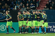 Onderwerp/Subject: Ajax - Eredivisie<br /> Reklame:  <br /> Club/Team/Country: <br /> Seizoen/Season: 2012/2013<br /> FOTO/PHOTO: F.L.T.R: Toby ALDERWEIRELD ( Tobias ALDERWEIRELD ) (C) of Ajax and Niklas MOISANDER (C) of Ajax and Derk BOERRIGTER (C) of Ajax and Christian POULSEN ( Christian Bjornshoj POULSEN ) (LL) of Ajax and Siem DE JONG (L) of Ajax and Daley BLIND (BEHIND) of Ajax and Lasse SCHONE (RR) of Ajax. (Photo by PICS UNITED)<br /> <br /> Trefwoorden/Keywords: <br /> #02 #18 $94 ±1342782825903<br /> Photo- & Copyrights © PICS UNITED <br /> P.O. Box 7164 - 5605 BE  EINDHOVEN (THE NETHERLANDS) <br /> Phone +31 (0)40 296 28 00 <br /> Fax +31 (0) 40 248 47 43 <br /> http://www.pics-united.com <br /> e-mail : sales@pics-united.com (If you would like to raise any issues regarding any aspects of products / service of PICS UNITED) or <br /> e-mail : sales@pics-united.com   <br /> <br /> ATTENTIE: <br /> Publicatie ook bij aanbieding door derden is slechts toegestaan na verkregen toestemming van Pics United. <br /> VOLLEDIGE NAAMSVERMELDING IS VERPLICHT! (© PICS UNITED/Naam Fotograaf, zie veld 4 van de bestandsinfo 'credits') <br /> ATTENTION:  <br /> © Pics United. Reproduction/publication of this photo by any parties is only permitted after authorisation is sought and obtained from  PICS UNITED- THE NETHERLANDS
