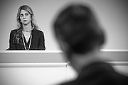 Rome jun 15th 2016, the cabinet meeting adopts a law against absent public workers. In the picture the minister of Public Service, Marianna Madia - © PIERPAOLO SCAVUZZO