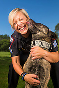 University Police Sgt. Cherise Caradine with K9 Officer Casey. (Photo © Andy Manis)