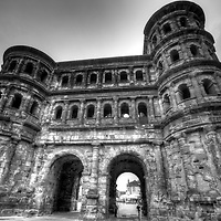 The largest Roman gate North of the Alps in Germany's oldest city - Trier. (Black & White version)