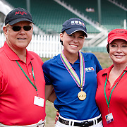 Bruce Hlavacek, Brandi Roenick and Jen Hlavacek with  at the 2012 North American Junior and Young Rider Championships in Lexington, Kentucky. Brandi rides Weltino's Magic  owned by Jen Hlavacek.
