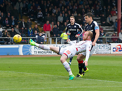 Ross County's Liam Boyce scoring their goal. half time : Dundee 0 v 1 Ross County, SPFL Ladbrokes Premiership played 13/5/2017 at Dens Park.