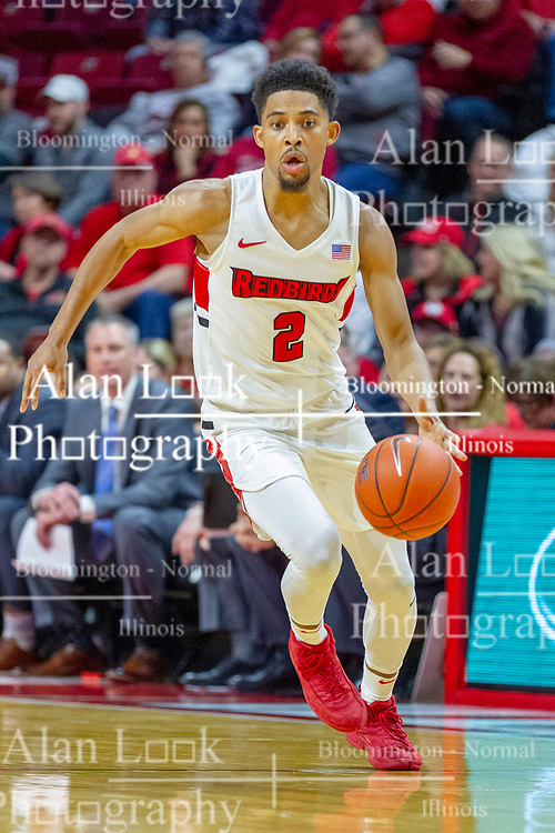 NORMAL, IL - February 16: Zach Copeland during a college basketball game between the ISU Redbirds and the Bradley Braves on February 16 2019 at Redbird Arena in Normal, IL. (Photo by Alan Look)