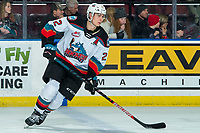 KELOWNA, BC - FEBRUARY 7: Dillon Hamaliuk #22 of the Kelowna Rockets warms up against the Portland Winterhawks at Prospera Place on February 7, 2020 in Kelowna, Canada. (Photo by Marissa Baecker/Shoot the Breeze)
