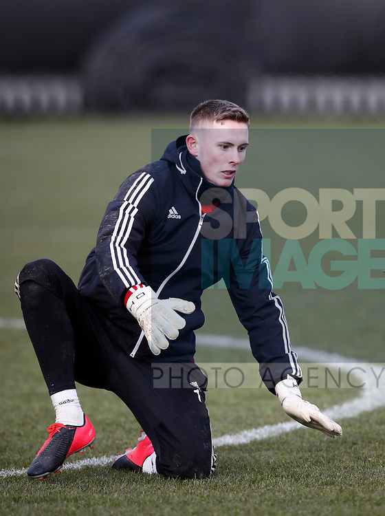 Dean Henderson of Sheffield Utd during a training session at the Steelphalt Academy, Sheffield. Picture date: 5th March 2020. Picture credit should read: Simon Bellis/Sportimage