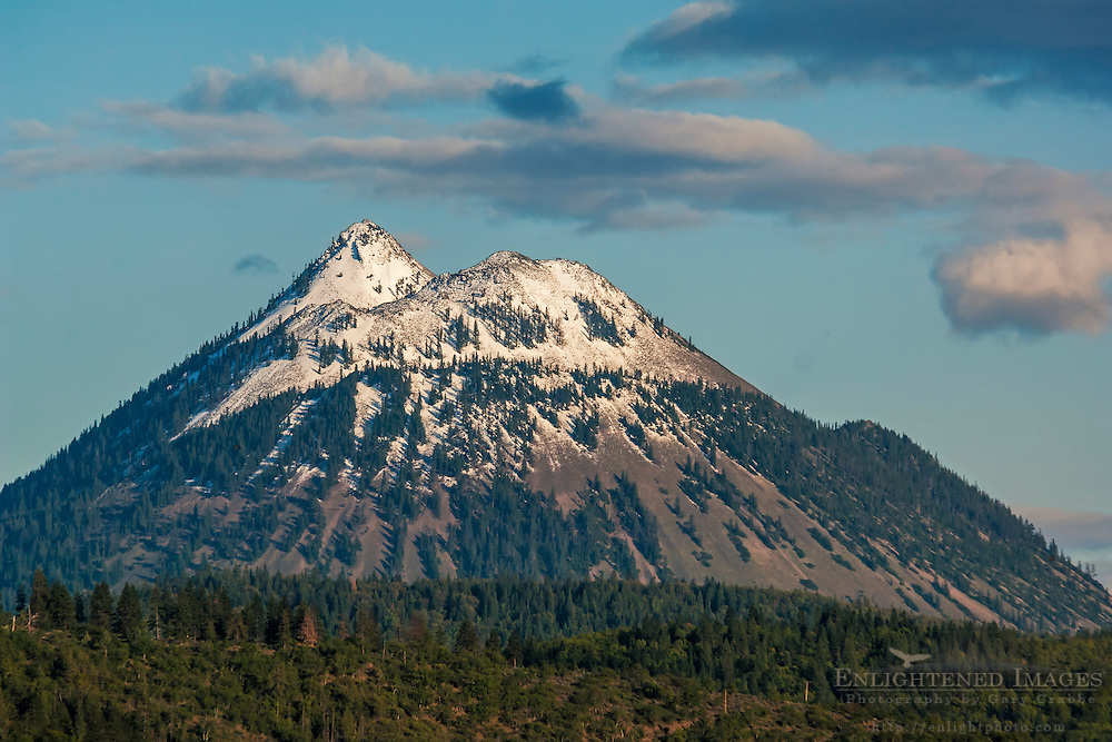 Black Butte, a volcanic cinder cone near Mount Shasta, Siskiyou County, California
