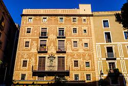 Decorated building in the gothic quarter of Barcelona, Catalonia, Spain<br /> <br /> (c) Andrew Wilson | Edinburgh Elite media