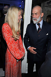 ASTRID HARBORD and HRH PRINCE MICHAEL OF KENT at a reception hosted by Beulah London and the United Nations to launch Beulah London's AW'11 Collection 'Clothed in Love' and the Beulah Blue Heart Campaign held at Dorsia, 3 Cromwell Road, London SW7 on 18th October 2011.