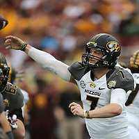 ORLANDO, FL - JANUARY 01: Maty Mauk #7 of the Missouri Tigers throws a pass during the Buffalo Wild Wings Citrus Bowl between the Minnesota Golden Gophers and the Missouri Tigers at the Florida Citrus Bowl on January 1, 2015 in Orlando, Florida. (Photo by Alex Menendez/Getty Images) *** Local Caption *** Maty Mauk