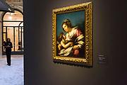 L'Ultimo Caravaggio, eredi e nuovi maestri (Last Caravaggio, Heirs and new Masters) exhibition at Gallerie d'Italia, Intesa Sanpaolo Museum, in Milan on November 30, 2017. In the picture Madonna con Bambino, oil on canvas by Bernardo Strozzi. © Carlo Cerchioli