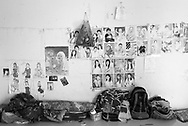 CAMBODIA. Chom Chao (Phnom Penh). 13/01/2011: Room of Tim Thavy, recently hired garment factory worker, 29 yrs old, from Kampot province. She shares with 6 other people.