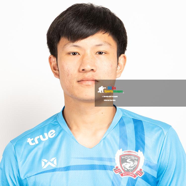 THAILAND - JUNE 07: Pongsagorn Samattanared #25 of Suphan Buri FC on June 07, 2019.<br /> .<br /> .<br /> .<br /> (Photo by: Naratip Golf Srisupab/SEALs Sports Images/MB Media Solutions)
