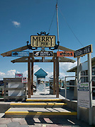Pass-A-Grille. Florida,  USA.  Entrance to the Merry Pier. on the inter coastal. Shore Line. General view round town. General view round town.. <br /> <br /> Monday  17/10/2016<br /> <br /> © Peter SPURRIER<br /> LEICA  DIGILUX 2  f3.2 7mm  2.5MB
