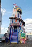 Helter Skelter, Brighton Pier, Brighton, Sussex, Britain.