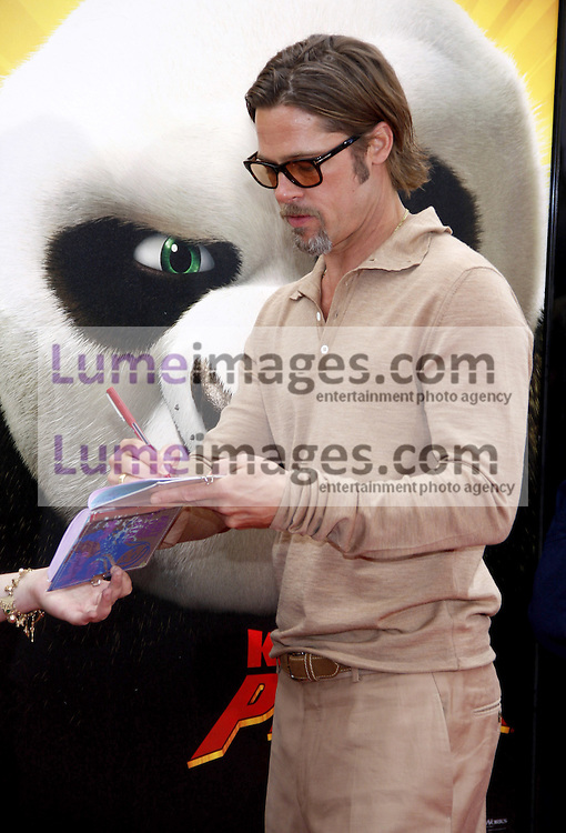 Brad Pitt at the Los Angeles premiere of 'Kung Fu Panda 2' held at the Grauman's Chinese Theater in Hollywood, USA on May 22, 2011.