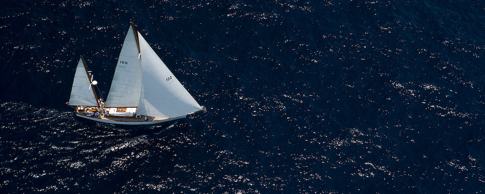 Ticonderoga at the Antigua Classic Yacht Regatta