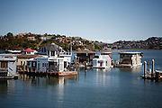 Marin City, April 6 2012 - Floating houses.
